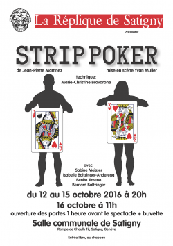 affiche Strip poker